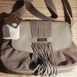 Handbags - NWT.ALLA LEATHER ART CROSSBODY BAG .